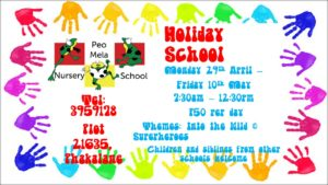 Holiday program and activities over easter