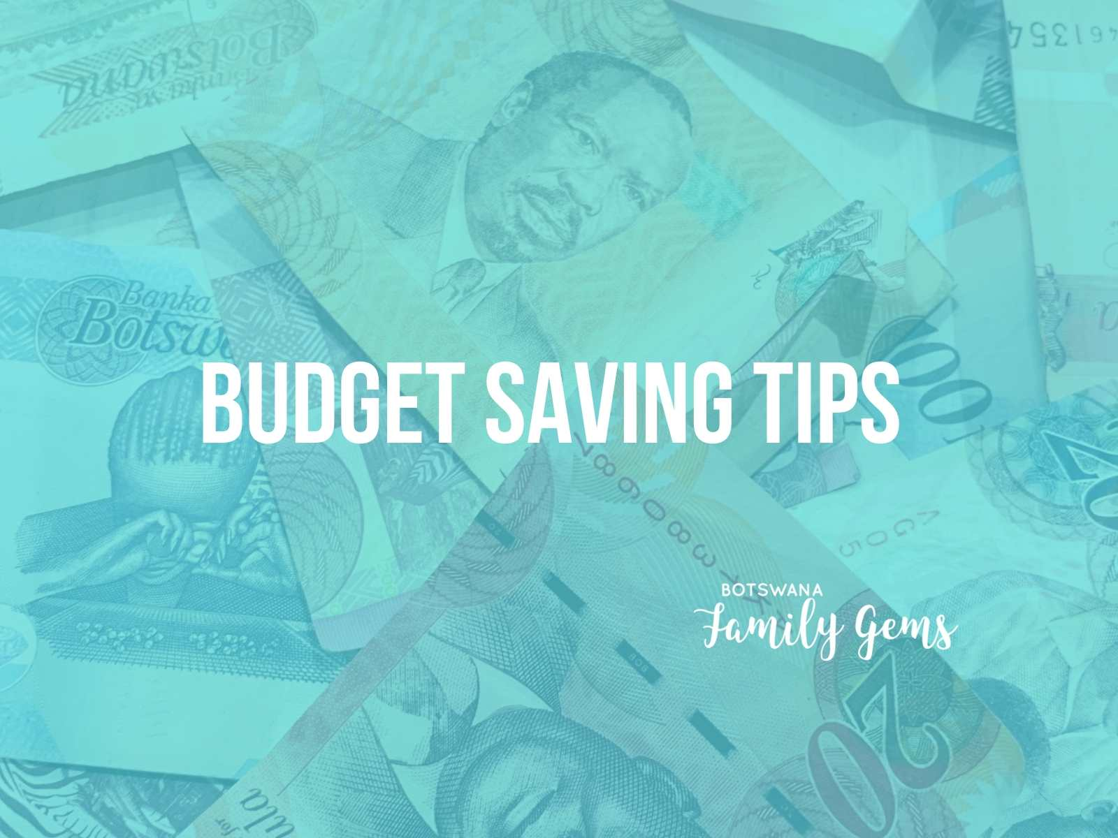 Tarryn Stellenburgs Budget saving tips