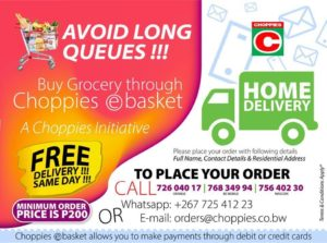 Supermarket deliveries in Gaborone