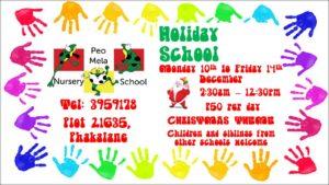 Holiday christmas programmes gaborone botswana 2018