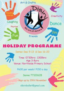 Holiday activities in Gaborone over christmas