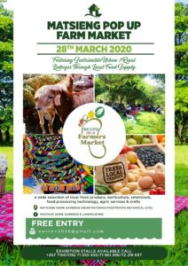 Famers market is a March Event