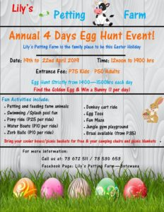 Family events April Lilys petting farm