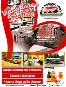 Kwa Nokeng Lodge valentine's day gifts in Botswana
