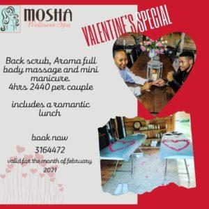 Mosha Spa Couple's Massage for Valentine's Day