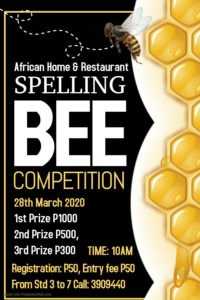 Spelling Bee Competion In Gaborone - March Events