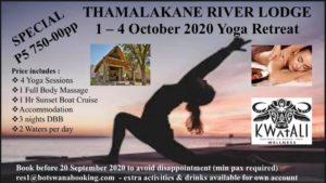 yoga treat in Botswana