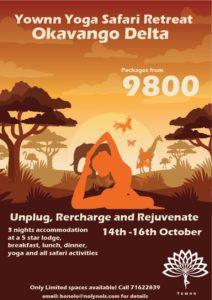 yoga safari retreat in Botswana