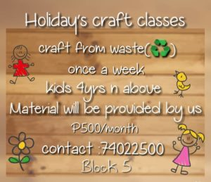 Holiday Craft Classes in Gaborone