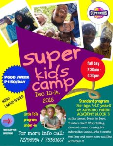 super kids camp holiday programme